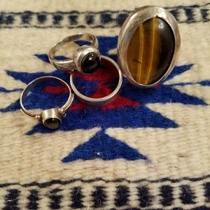 Silver rings size 7-8